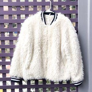 💥HP💥 Lou & Grey Fuzzy Bomber Jacket (Sherpa)